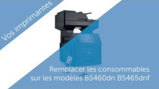 Comment changer la cartouche de toner sur une imprimante laser DELL b5460 et b5465.